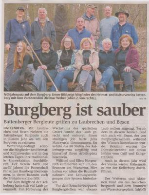 Foto zu Meldung: Burgberg ist sauber