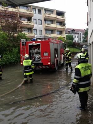 Foto zur Meldung: Hochwasserkatastrophe 2013 in Rosenheim