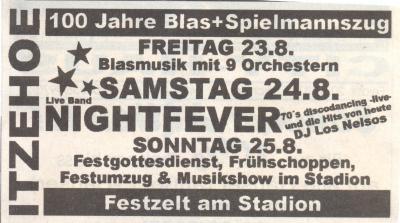 Foto zur Meldung: 100 Jahre Blas+Spielmannszug