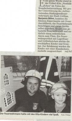 Foto zur Meldung: KITA Brandschutzerziehung