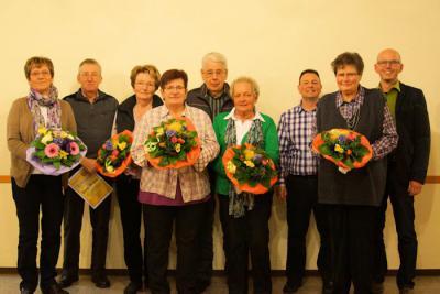 Foto zur Meldung: Ehrungen beim Gesangverein