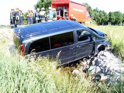 Foto zur Meldung: Im Laffgraben nach Verkehrsunfall