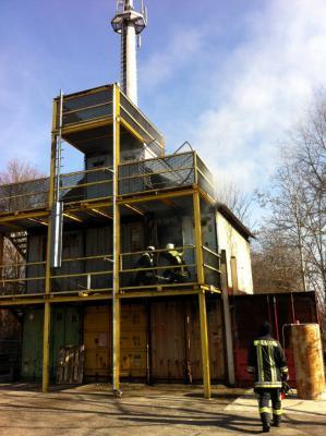 Foto zur Meldung: Heißausbildung bei der Feuerwehr Unterschleißheim