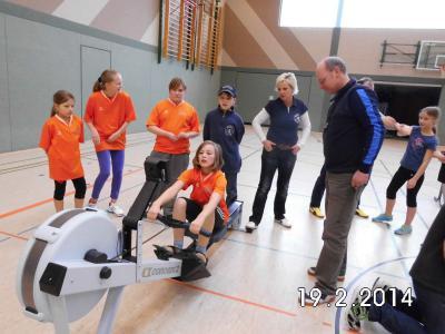Foto zur Meldung: 5. Indoor-Rowing-Cup in Havelberg
