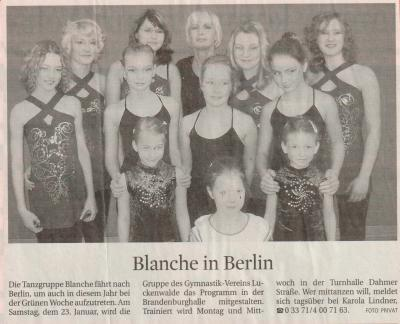 Vorschaubild zur Meldung: Blanche in Berlin