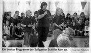 Foto zur Meldung: Kunterbuntes Programm an der Sallgaster Schule