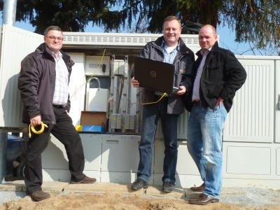 Foto zu Meldung: Breitbandausbau durch Amplus nicht zu bremsen