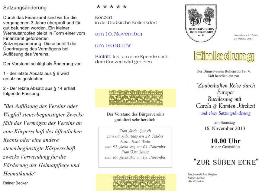 """neuenhagen-bei-berlin.de - einladung zur """"zauberhaften reise durch, Einladung"""