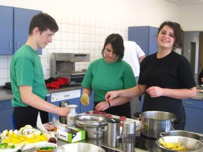 Foto zur Meldung: Kochprofis an der Grabow-Oberschule