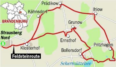 Oberrnimer Feldsteinroute, Grafik Berlner Zeitug