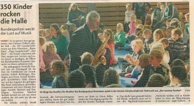 Vorschaubild zur Meldung: Leine-Zeitung: 350 Kinder rocken die Halle