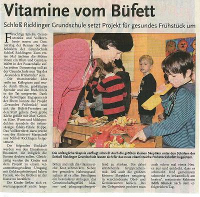 Vorschaubild zur Meldung: Rundblick: Vitamine vom Büfett
