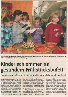 Vorschaubild zur Meldung: Leine-Zeitung: Kinder schlemmen an gesundem Frühstückbüfett