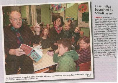 Vorschaubild zur Meldung: Leine-Zeitung: Leselustige besuchen 73 Schulklassen