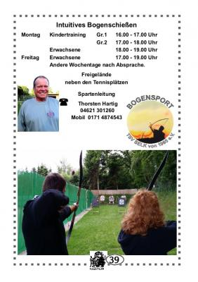 Foto zu Meldung: TSV Selk Sportangebot: Bogenschießen