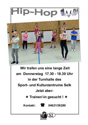 Vorschaubild zur Meldung: TSV Selk Sportangebot: Hip-Hop