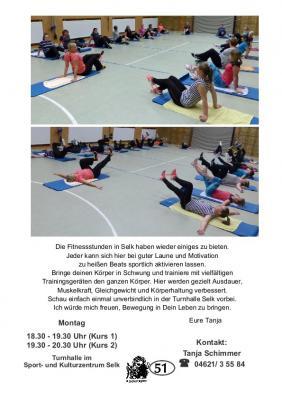 Vorschaubild zur Meldung: TSV Selk Sportangebot: Lady Fitness