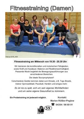 Vorschaubild zur Meldung: TSV Selk Sportangebot: Fitnesstraining (Damen)