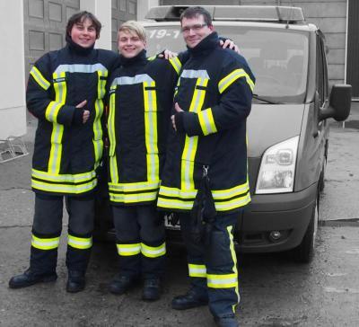 Foto zur Meldung: 3 neue Atemschutzgeräteträger