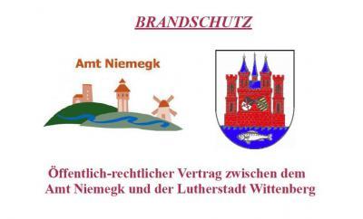 Foto zur Meldung: Öffentlich-rechtlicher Vertrag zwischen dem Amt Niemegk und der Lutherstadt Wittenberg