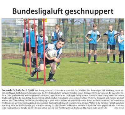 Foto zur Meldung: VFL Wolfsburg Fussballcamp in Barmke