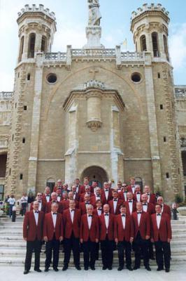 Der MGV vor der Kirche Notre Dame, Jerusalem