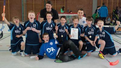 Foto zu Meldung: floorball: Meisterschaft für U13 nach dramatischem Krimi