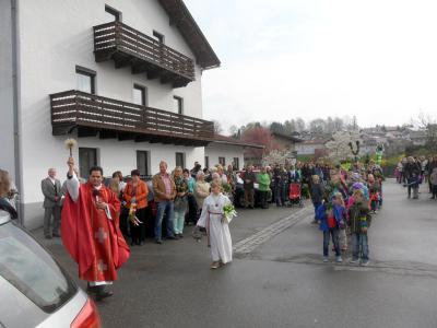 Foto zur Meldung: Palmprozession in Prackenbach und Krailing