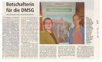 Vorschaubild zur Meldung: Botschafterin für die DMSG