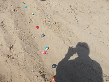 Foto zu Meldung: Sonne lockte zum Eiertrudeln