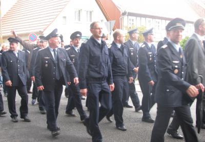 """Foto zur Meldung: Umzug zum Jubiläum """"120 Jahre Freiwillige Feuerwehr Freyenstein"""""""