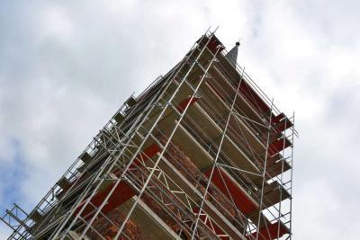 Vorschaubild zur Meldung: Turmsanierung in Rosefeld