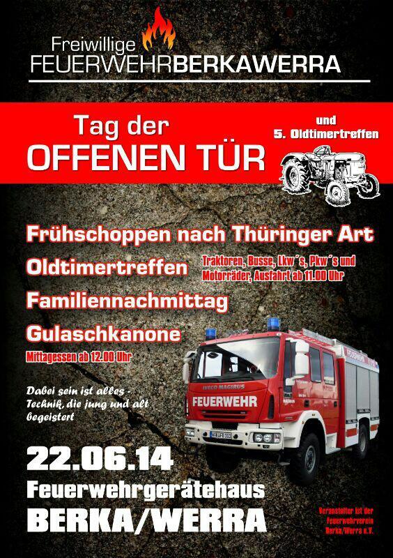 Wann ist tag der offenen tür  Stadt Berka/Werra - Tag der offenen Tür der Feuerwehr Berka/Werra