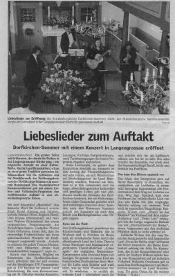 Eröffnung des Brandenburgischen Dorfkirchensommers in Langengrassau mit dem Niederlausitzer Kammerensemble