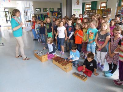 """Foto zur Meldung: Aktionstag Musik in der Grundschule – Motto: """"Meine Heimat in der Musik"""""""