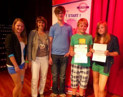"""Foto zur Meldung: Klasse 8c gewinnt bei Wettbewerb """" Be Smart - Don`t Start"""""""