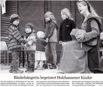 Vorschaubild zur Meldung: Zeitungsartikel zum Kinderfest Holzhausen