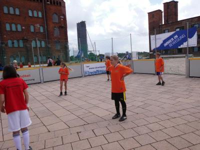 Foto zur Meldung: Straßenfußball in Wittenberge