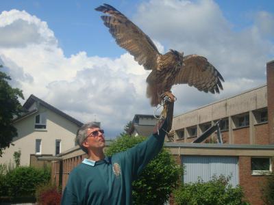 Foto zur Meldung: Aktionstage: Falkner und Imker zu Besuch