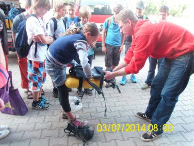 Foto zur Meldung: Besuch bei der Feuerwehr in Bad Wilsnack und Grube