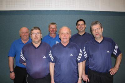 Foto zur Meldung: Friedhelm Cordes und Wilhelm Holsten sind die neuen Tischtennis-Vereinsmeister beim TuS Elsdorf