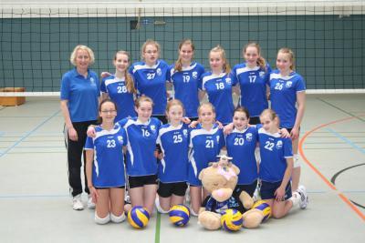 Foto zur Meldung: Volleyball- Mädels erneut Meister