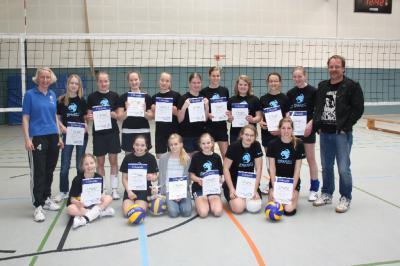 Foto zur Meldung: Die Jugend- Volleyball-Abteilung des TuS Elsdorf feiert eine erfolgreiche 1. Saison!