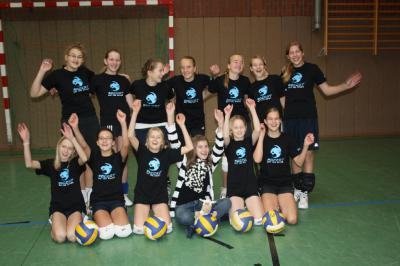 Foto zur Meldung: Volleyball-Jugend U14 gewinnt den 1. Spieltag