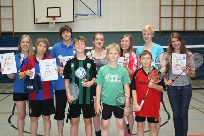 Foto zur Meldung: Nachwuchs-Badmintonspieler holen beim Buxte-Cup vier Titel