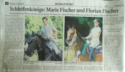 Foto zur Meldung: Turnierergebnisse von Passau am 05.07.2014