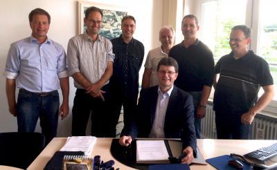 Die Mitglieder der AGE (von links): Peter Vogelsang, Lutz Eichelberger, Rainer Will, Frank Schulze, Udo Jung, Johannes Trümner. Vorne Heinrich Stadelbauer.