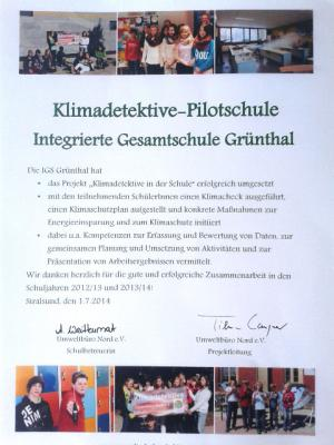 """Foto zur Meldung: Zwischenbericht """"Zur Umsetzung des schulischen Klimaschutzplanes der IGS Grünthal"""" veröffentlicht"""