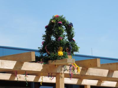 Foto zur Meldung: Richtfest an der Oberschule Jade