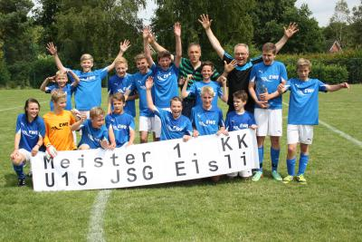 Foto zur Meldung: U15 der JSG Elsli ist Staffelmeister der 1. KK in Kreis Rotenburg